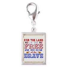 Land of the Free Silver Portrait Charm
