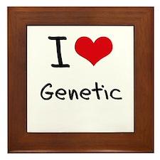I Love Genetic Framed Tile