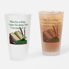 When I write Drinking Glass