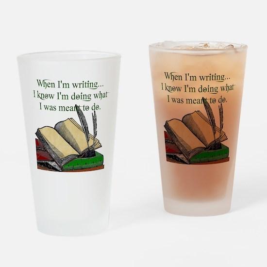 When I write Drinking Glass