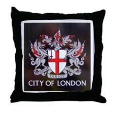 City of London Crest Throw Pillow