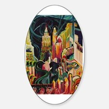 Halloween Party Oval Decal