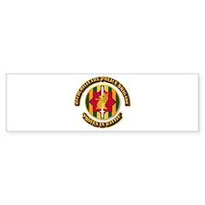 Army - SSI - 89th Military Police Brigade Bumper Sticker