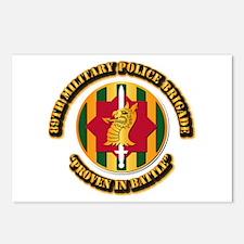 Army - SSI - 89th Military Police Brigade Postcard