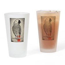 African Grey in Pencil Drinking Glass