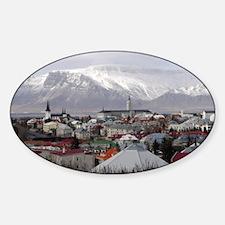 Reykjavik Blues Oval Decal