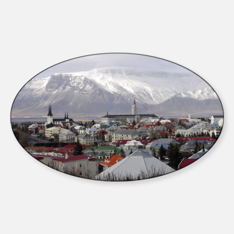 Reykjavik Blues Oval Decal