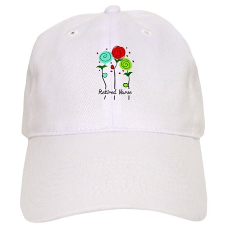 Retired Nurse Floral Baseball Cap