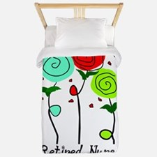 Retired Nurse Floral Twin Duvet