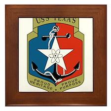 USS Texas (CGN 39) Framed Tile