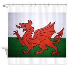 Welsh Flag Shower Curtain