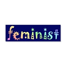 Cute Feminism Car Magnet 10 x 3