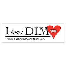 I Heart Dim Sum Bumper Bumper Sticker