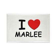 I love Marlee Rectangle Magnet