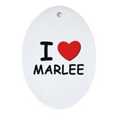 I love Marlee Oval Ornament