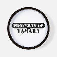 Property of Tamara Wall Clock