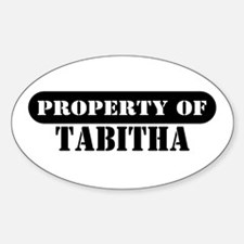 Property of Tabitha Oval Decal