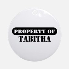 Property of Tabitha Ornament (Round)