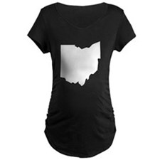 State of Ohio Maternity T-Shirt