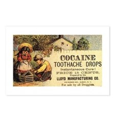 Cocaine Toothache Drops Postcards (Package of 8)