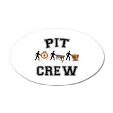 Pit Crew 20x12 Oval Wall Decal