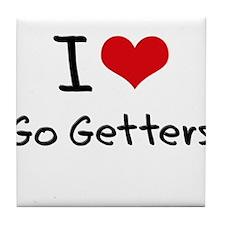 I Love Go Getters Tile Coaster