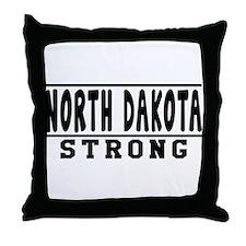 North Dakota Strong Designs Throw Pillow