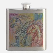 Three Wild horses Flask