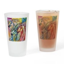 Three Wild horses Drinking Glass