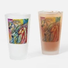 Three Wild horses Drinking Glass