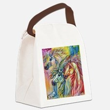 Three Wild horses Canvas Lunch Bag
