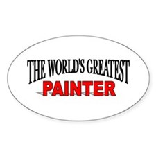 """""""The World's Greatest Painter"""" Oval Decal"""