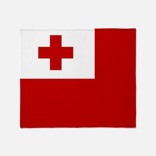Flag of Tonga Throw Blanket