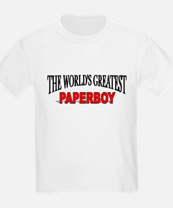 """The World's Greatest Paperboy"" Kids T-Shirt"