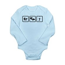 Volleyball Long Sleeve Infant Bodysuit