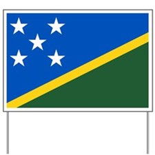 Solomon Islands Flag Yard Sign