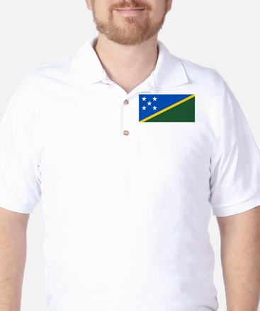 Solomon Islands Flag Golf Shirt