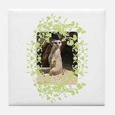 Cute Meerkat Tile Coaster