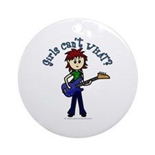 (Bettis) Custom Bass Guitar Ornament (Round)
