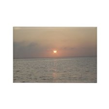 Sunset Over Bay - Rectangle Magnet