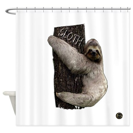 Sloth shower curtain by saysaysay for Sloth kong shower curtain