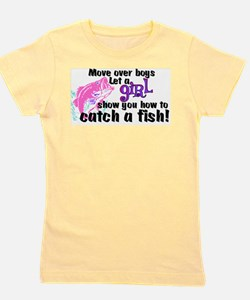 Move Over Boys - Fish Girl's Tee