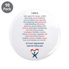 """I am a CASA 3.5"""" Button (10 pack)"""