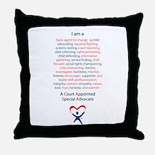 I am a CASA Throw Pillow