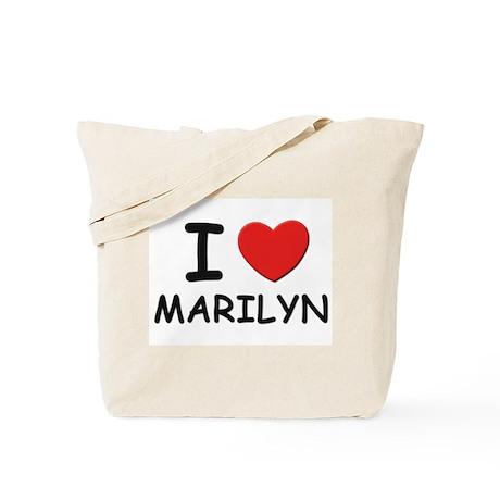 I love Marilyn Tote Bag