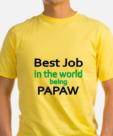 Best Job in the world, being PAPAW T-Shirt