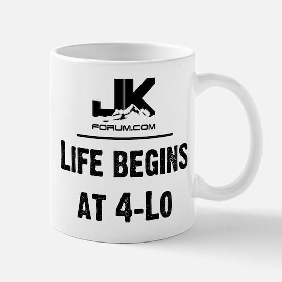 Life Begins at 4-LO JK-Forum Logo Mug