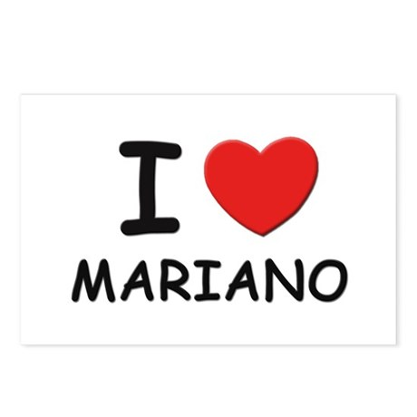 I love Mariano Postcards (Package of 8)