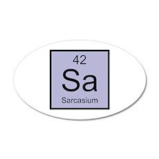 Sa Sarcasium Element 22x14 Oval Wall Peel