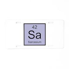 Sa Sarcasium Element Aluminum License Plate